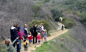 Family Adventures in Nature families on a Hike, Rose Canyon, San Diego CA. Photo Courtesy of Family Adventures in Nature